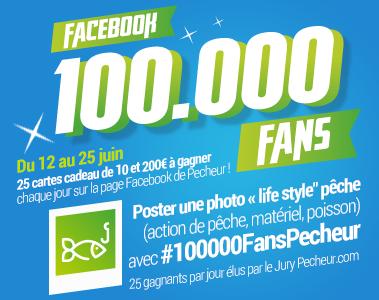100 000 FANS Facebook PECHEUR