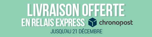 Livraison Express OFFERTE jusqu'au 22 Décembre !
