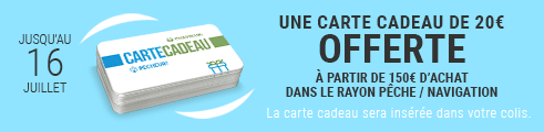Pecheur Days - 20€ OFFERTS en Carte Cadeau dés 150€ d'achat jusqu'au 16 juillet, minuit.