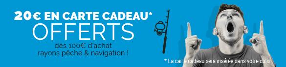 Jusqu'au 18 août, 20€ OFFERTS en Carte cadeau dés 100€ d'achat !