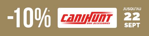Jusqu'au 22 septembre, -10% sur Canihunt, valable aussi sur les promos , Code : CANHUNT9