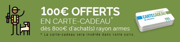 Jusqu'au 31 octobre, une carte-cadeau de 100€ OFFERTE, dès 800€ d'achat(s).