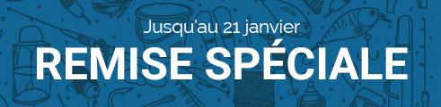 -10% (prix bleus), jusqu'au 21 janvier, code : 2JANV