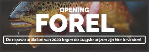 Opening Forel De nieuwe artikelen van 2020 tegen de laagste prijzen zijn hier te vinden!  ---------------------- Hengels, Molens, Lokaas, Waadpakken Het is hét moment om uw uitrusting te vernieuwen of aan te vullen. ---------------------- Ga nu winkelen