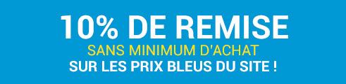 -10% sans minimum d'achat, sur les prix bleus, jusqu'au 25 Février - Code : FEVPCHV
