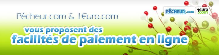 Pêcheur.com et 1euro.com vous proposent des facilités de paiement en ligne